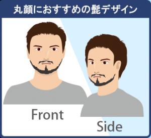 丸顔に似合うおすすめの髭でデザイン