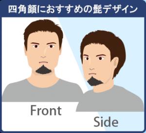 四角顔に似合うおすすめの髭でデザイン