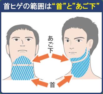 首髭脱毛の施術範囲
