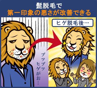 ヒゲ脱毛で第一印象の悪さが改善できる