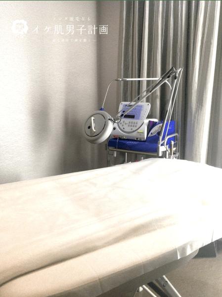 メンズTBC新宿本店の施術室の様子