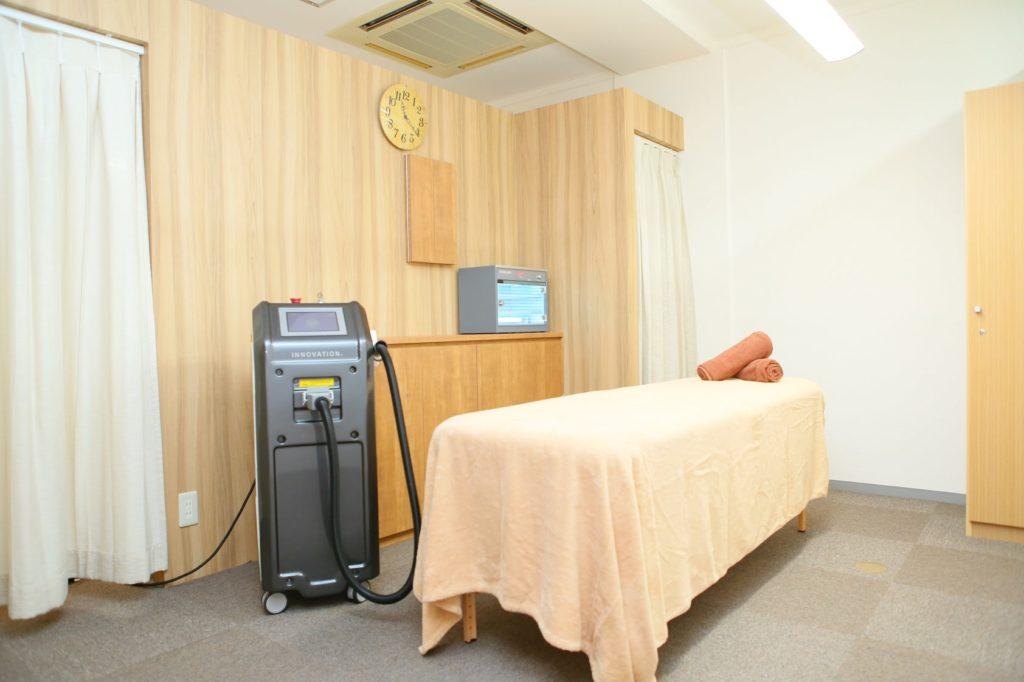 リンクス千葉中央店の施術室は個室