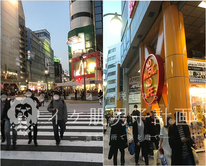 リンクス東京渋谷店までの道のりの写真