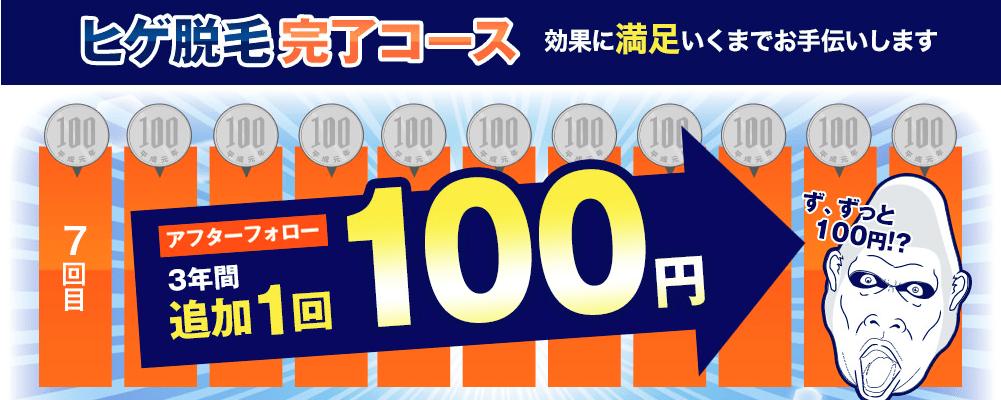 ゴリラクリニックの追加施術100円の内容